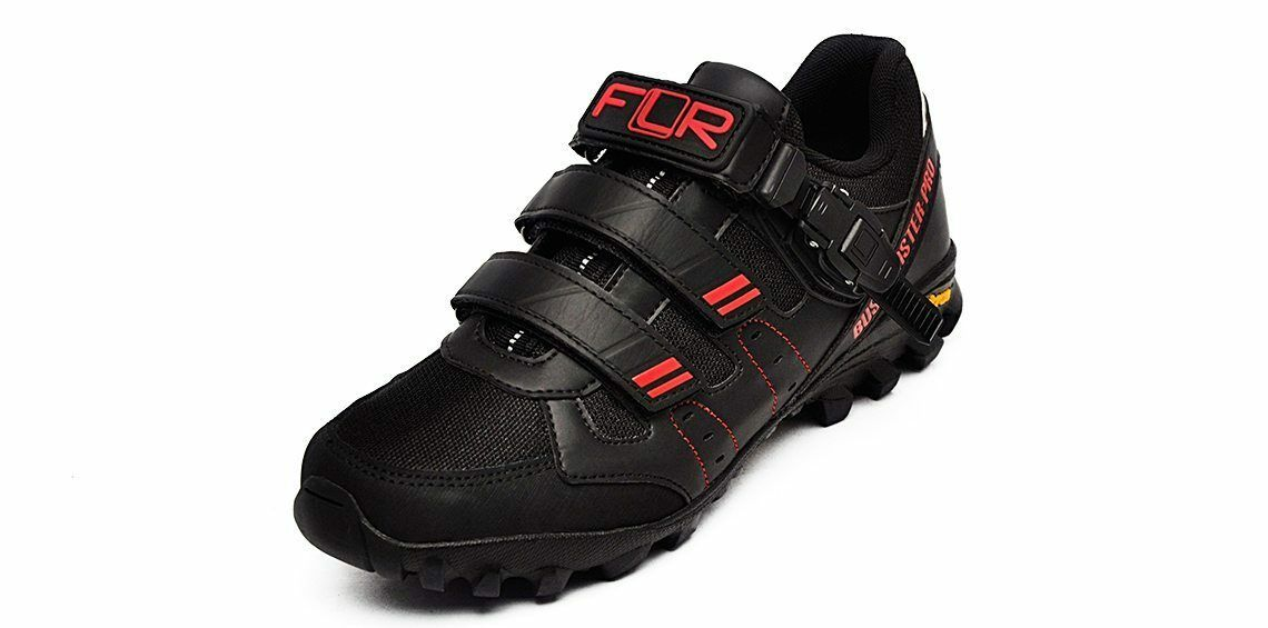 FLR Bushmaster Pro Vibram Zapatos de Bicicleta de montaña Spininng Spininng Spininng Bicicleta De Montaña Negro Rojo-Nuevo en una caja 4b6aa8