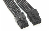 60cm 6Pin Male to 6Pin Male PCI-E Power Adapter Cable black 18AWG