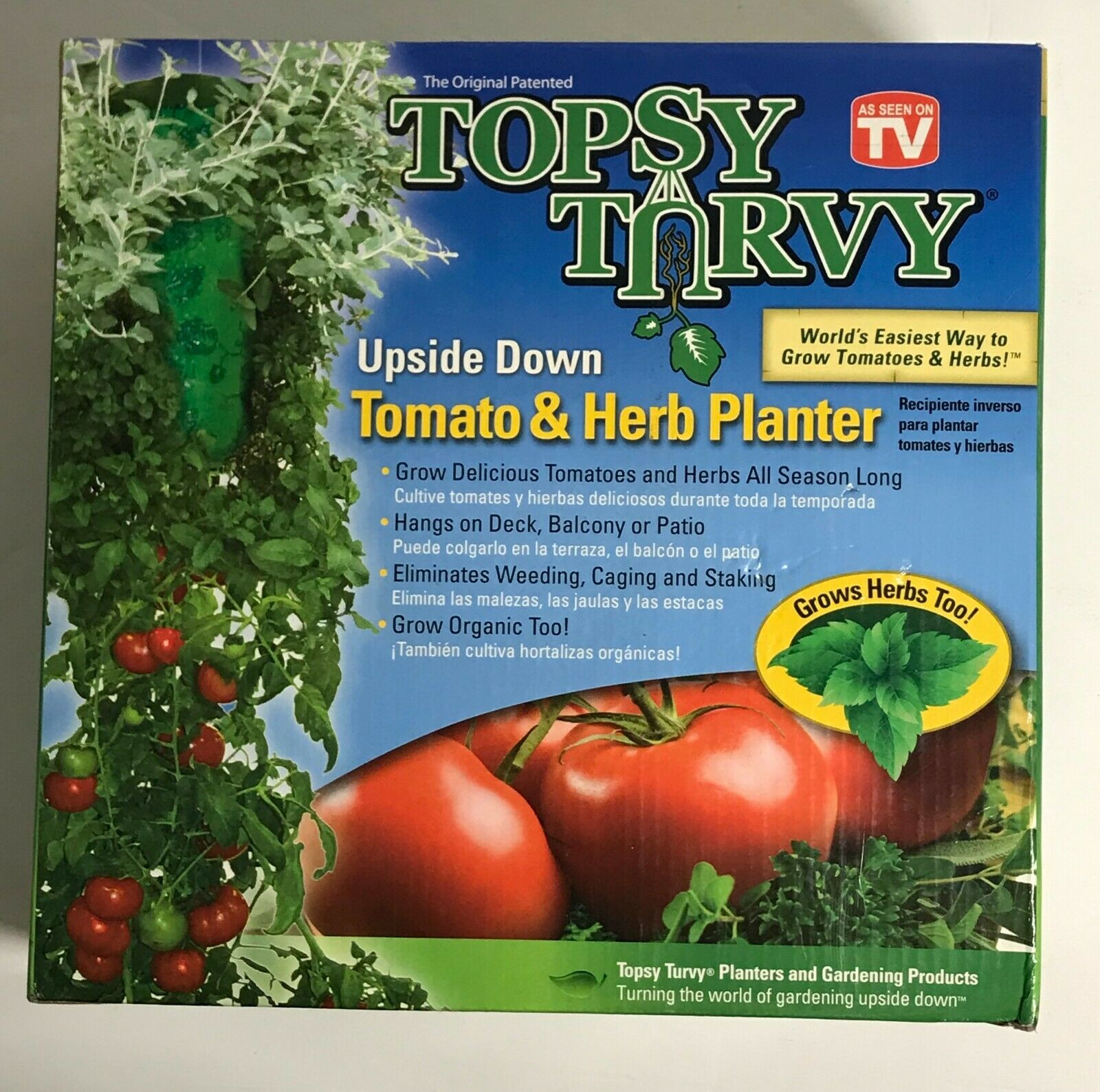 Planter Des Tomates En Pot topsy turvy upside down tomato and herb planter