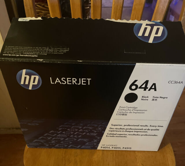OEM Sealed Genuine HP LaserJet CC364A 64A Black Toner Print Cartridge