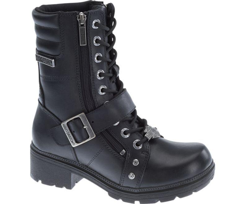 Harley-Davidson Women's TALLEY RIDGE Black Full leather Boots D83878