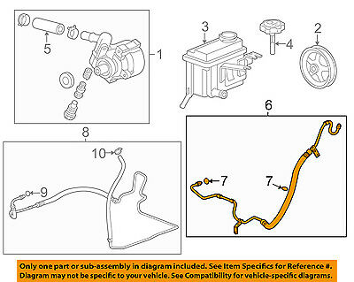 Buick GM OEM 09-11 Lucerne-Power Steering Pressure Hose ...
