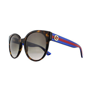 29f82e49fa49c Image is loading Gucci-Sunglasses-GG0035S-004-Havana-Glitter-Blue-and-