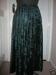 dark-green-velvet-skirt-custom-made-10-12-14-16-18-20-22-24-26-28-30-32-34-36