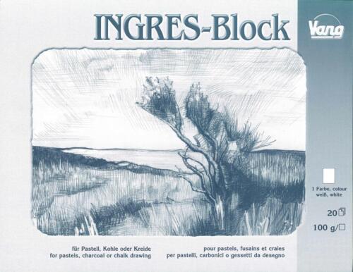 Ingres Block für Pastell Kohle Kreide farbig oder weiß in versch Größen wählbar
