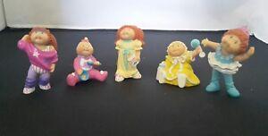Vintage Lot Of 7 1980/'s Cabbage Patch Kids  PVC 2.5 Figures