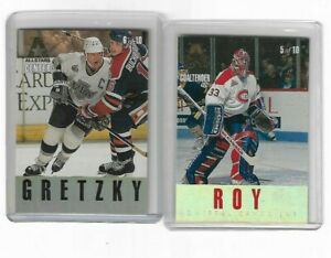 1995-96-Leaf-Gold-All-Stars-Inserts-5-amp-6-Wayne-Gretzky-amp-Patrick-Roy-Gilmour