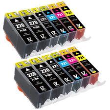12PK PGI-220 CLI-221 Ink Cartridge for Canon PIXMA PMFP1 PMFP3 PIXUS MP610 MX860