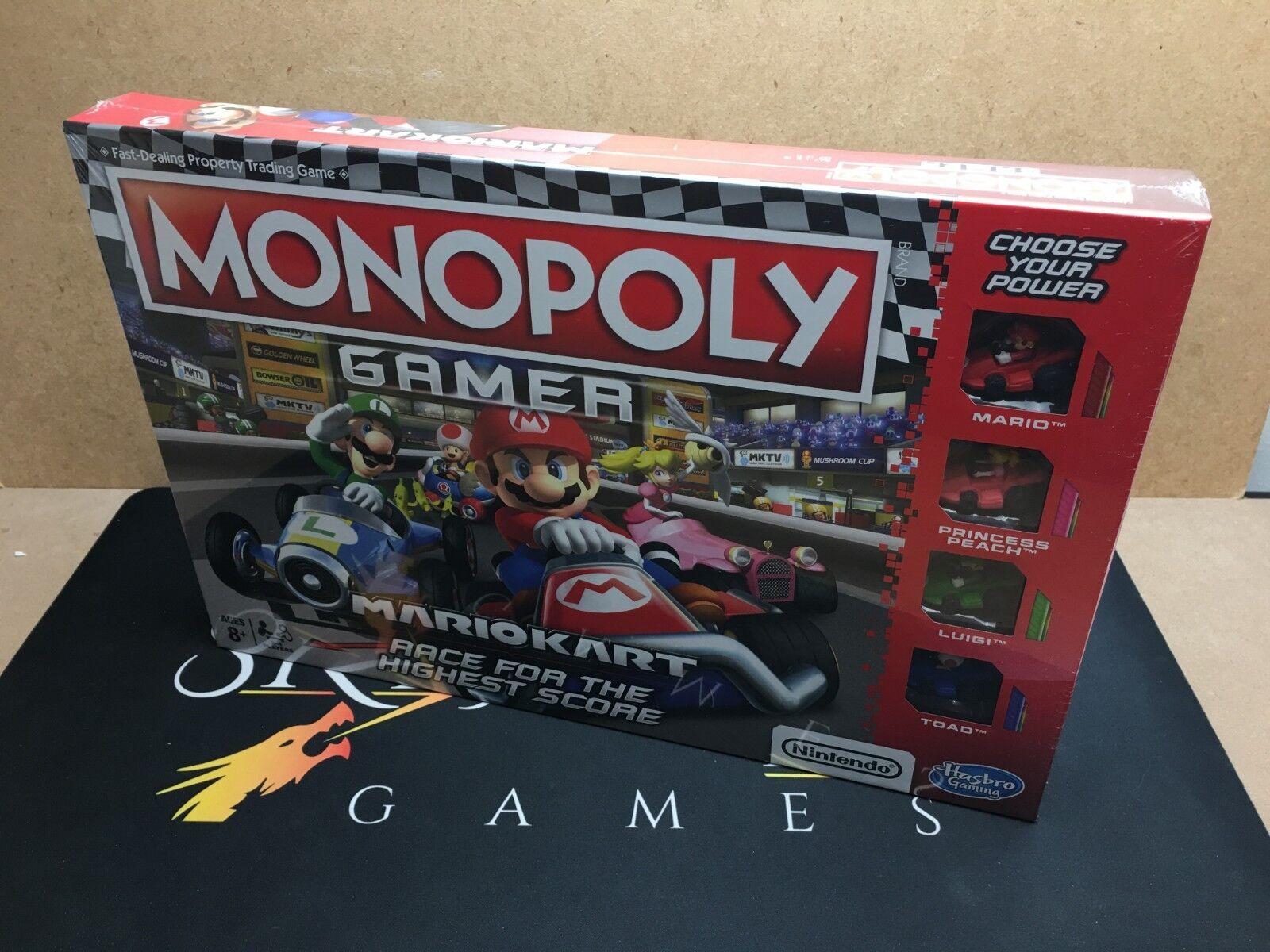 Monopoly  Gamer Mario Kart Edition - Hasbro (Genuine Sealed)