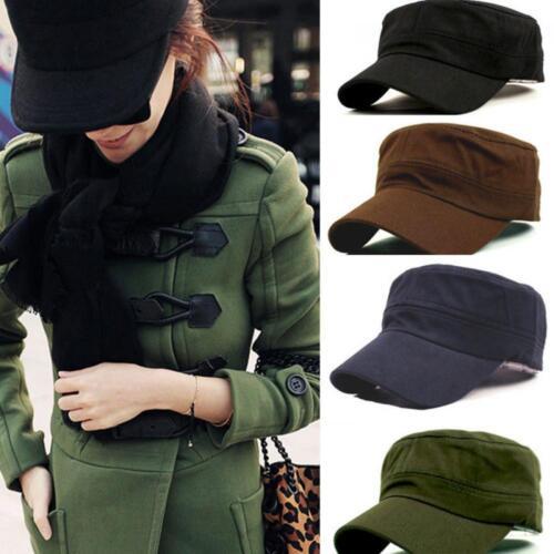 Unisex Classic Plain Vintage Army Hat Cadet Military Patrol Cap Fashion Hot