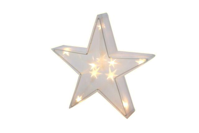 Stern Mit Beleuchtung | 3d Stern Mit 10 Led 30 Cm Beleuchtung Acryl Leuchtstern Lichterkette