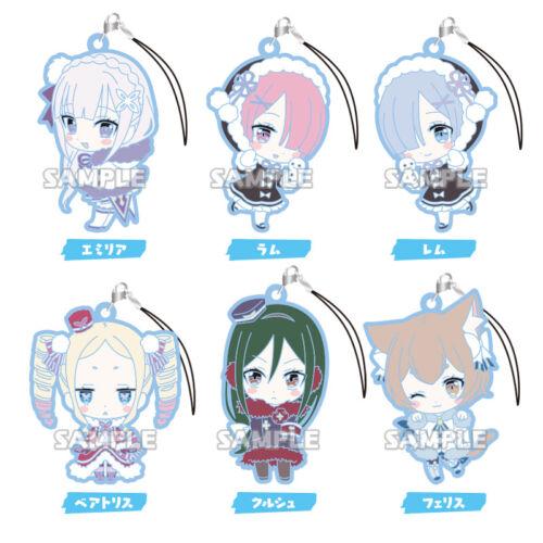 Re:Zero Starting Life Rem Winter Ver Character Gacha Capsule Rubber Mascot Strap