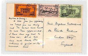 AT86 1939 Martinique London GB Postcard {samwells-covers}PTS