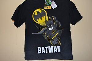 BATMAN EMBLEM//SIGNAL-BOYS SIZE 5//6-LICENSED SHORT SLEEVE-NWOT