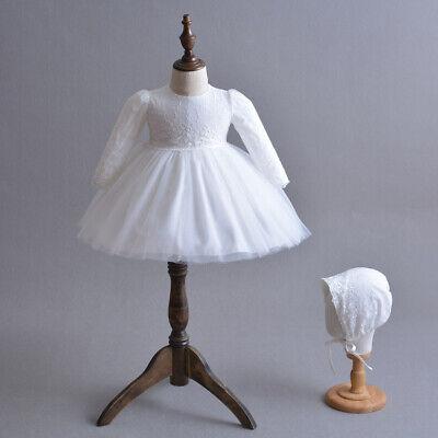 Blanc Chapeau Baptême Satin Dentelle Couleur Rose, Ecru