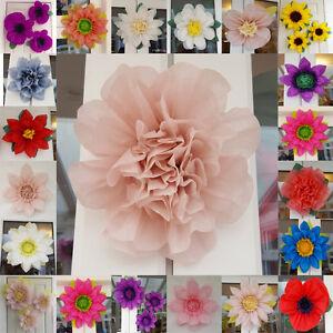 Details About Balloon Weight Birthday Pom Pom Paper Flower 19cm Wedding Venue Decorations