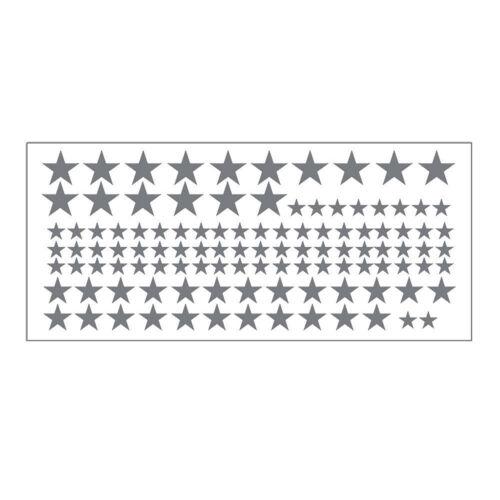110 pcs Mixed Size Stars Wall Sticker DIY Wall Decals for Kids Nursery Decor^