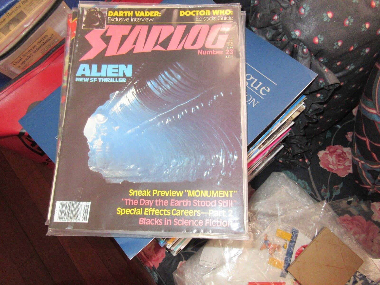STARLOG , #23 , New/Old Inventory , Darth Vader , Docto