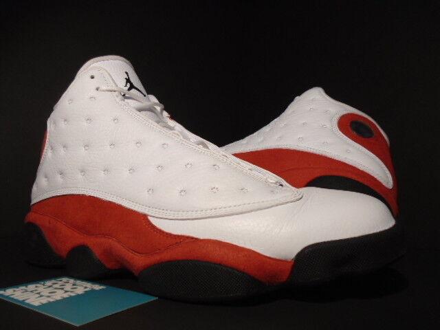 2018 Nike Air Jordan XIII 13 Retro CAGO BULLS CHERRY blanc  Noir rouge 10.5