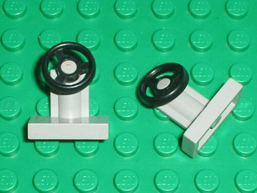 LEGO OldGray Steering Stand and Wheel ref 3829c01 6950 4557 487 483 497 4561..