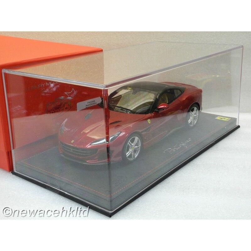 entrega de rayos Ferrari Portofino rojo Portofino Portofino Portofino Nuevo Negro BBR Modelo 1 18  P18157AGB  marca famosa