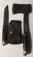 Vintage Western USA Boulder Colo. Knife Axe / Hatchet Combination Set