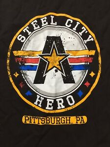 63c6460c4 Kurt Angle Steel City Hero T Shirt S Small WWE The Three I's NXT ...