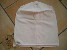 (P65) Leichte FREAKY HEADS Mütze rolling Jersey Beanie Zart Rosa Uni + Logo Flag