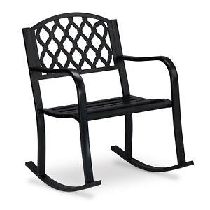 Sedia a dondolo in metallo arredo per il giardino poltrona da esterno outdoor