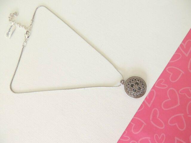 Brighton FERRARA Capella Basilica Disc Reversible Silver Necklace New tags $58