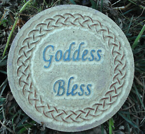Goddess-bless-gothic-mold-concrete-plaster-plaque-mould-10-034-x-3-4-034-thick