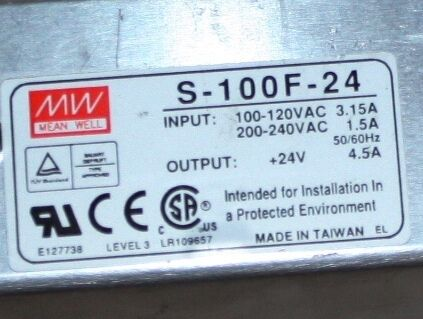 Mean Well power supply S-100F-24 PSU 24V