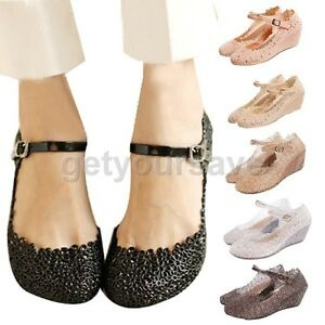 Summer Mary Jane Soft Rubber Wedge Heel Flat Platform Sandals ...