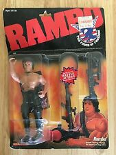 "VINTAGE 1985/86 COLECO RAMBO FORCE OF FREEDOM 7"" ACTION FIGURE MINT ON CARD"