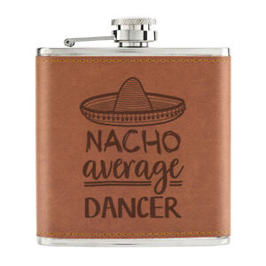 Nacho-Moyenne-Dancer-170ml-Cuir-PU-Hip-Flasque-Fauve-Worlds-Best-Ballet-Drole