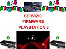 SERVIZIO RIPRISTINO 3.55 SONY PLAYSTATION 3  FIRMWARE  PS3