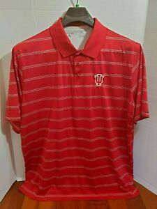 Antigua Mens XXL Shirt Short Sleeve Casual Polo Indiana Hoosiers Pull Over Golf