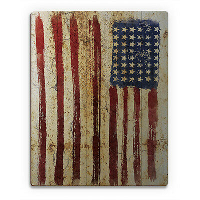 Industrial American Flag Planked Wood Wall Art Print 16x20 New Price Reduced Ebay
