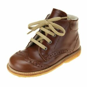 Angulus Wool Lined Lace Up Boot Girls