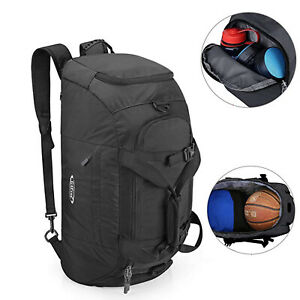 17232e4d8 Image is loading Outdoor-Gym-Sports-Duffel-Backpack-Luggage-Bag-Shoe-