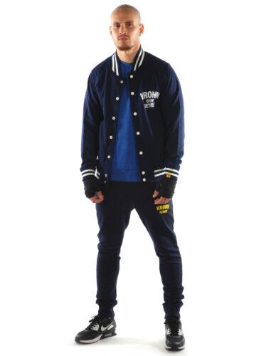 Kronk College homme veste bleu marine avec style vintage imprimé