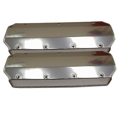 For Pre 86 Big Block Chevy Fabricated Aluminum Valve Covers BBC Without Hole