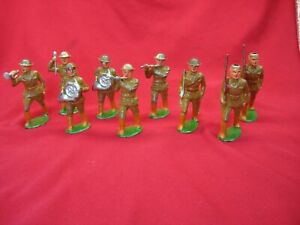 VINTAGE-BARCLAY-WW-I-SOLDIER-LOT-9-PCS-PRIME-SUBJECTS-FOR-RESTORATION