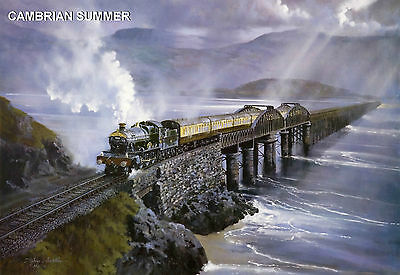 100% Vero Hornby Dublo In Railway Art 9 Prints 21 - 29 Signed And Limited Numbers.