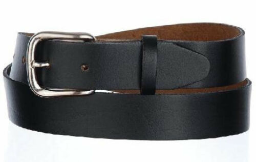 """BROWN OR BOTH 1.25/"""" WIDE OIL TAN LEATHER BELT 1043 -MADE IN USA BLACK TO 60/"""""""