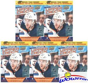(5)2020/21 Upper Deck Series 1 Hockey HUGE Factory Sealed Blaster Box-YOUNG GUNS