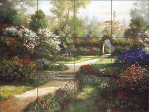Ceramic-Tile-Mural-Backsplash-Mirkovich-Floral-Flower-Landscape-Art-NMA025