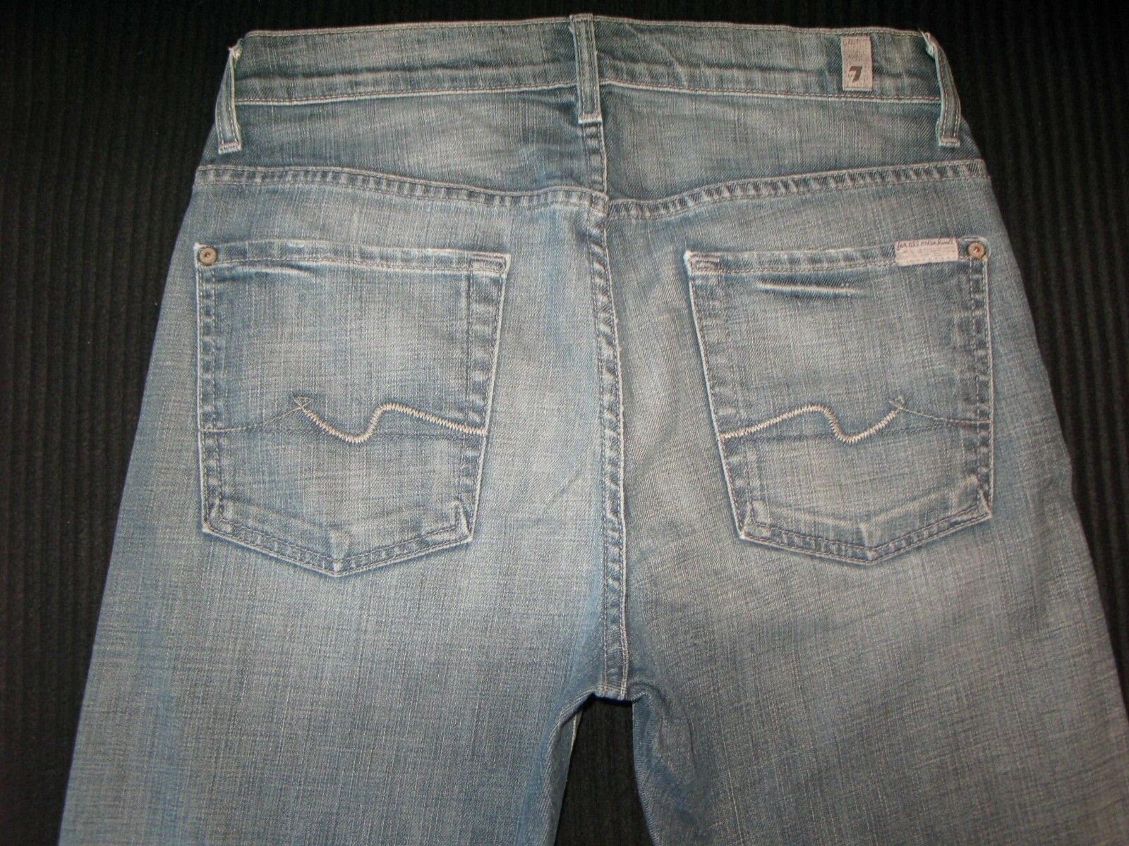 7 für Alle Herren Austyn Jeans Sz 29 X 27 Gerade Bein mit Stretch USA Gemacht  | Fuxin
