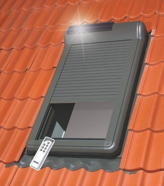 Außenrollladen ARZ Solar 114x140 102 inkl Steuereinheit und Fernbedienung OUTLET