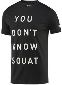 fa6f7ee3d Reebok BQ82 Mens Training 'You Don't Know Squat' Graphic Tee ...